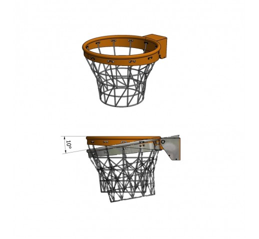 Basketbalová obruč sklápacia s plynovými piestami